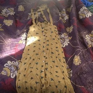 Button up overall skirt